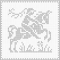 Schemi uncinetto filet per tende e centrini punti e spunti for Piastrelle uncinetto filet schemi